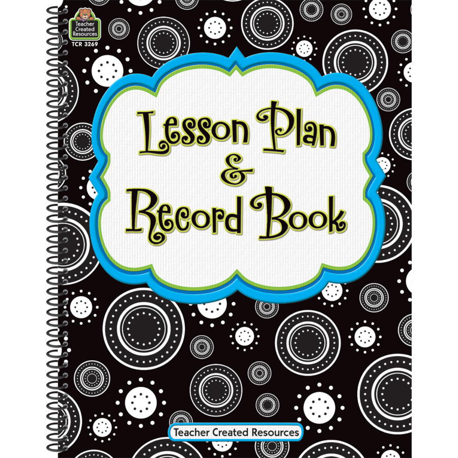 TCR 3269 LESSON PLAN AND RECORD BOOK BLACK AND WHITE DOTS