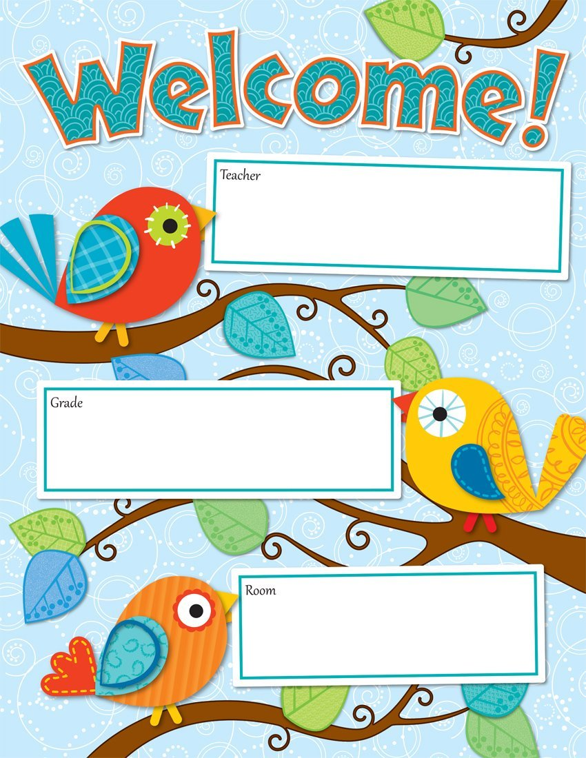 CD 114190 BOHO BIRDS WELCOME CHART