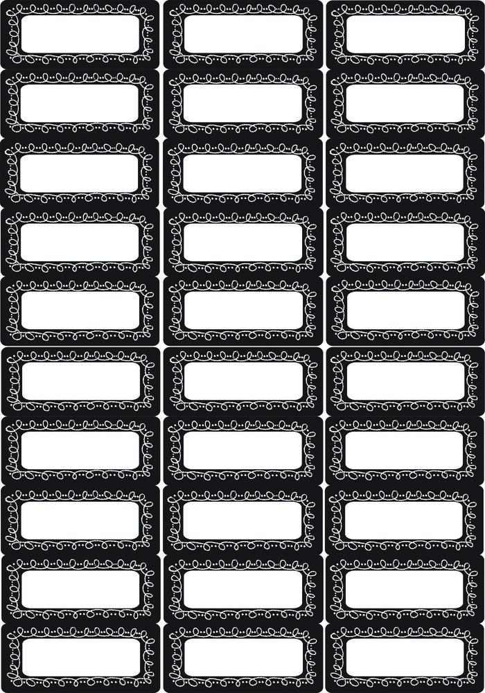 AP 19013 SMALL MAG CHALK LOOP LABELS/NAMEPLATES