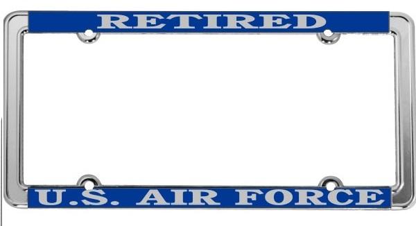 U.S. Air Force Retired License Plate Frame - Thin Rim | Auto ...