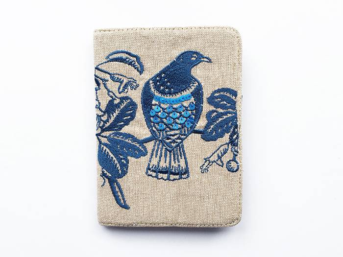 Passport Navy Woodpigeon on Linen