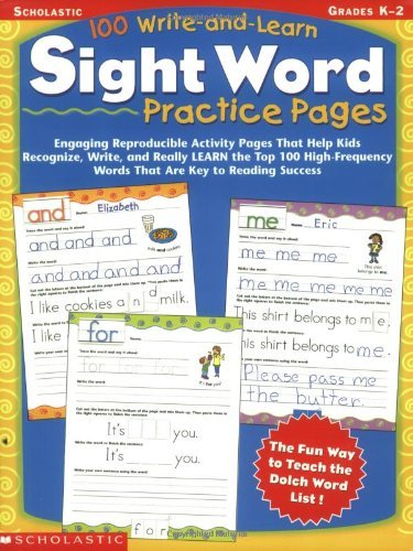 SC 0439365627 100 WRITE / LEARN SIGHT WORD PRACTICE