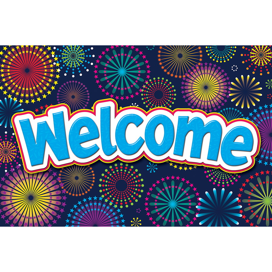 TCR 5460 FIREWORKS WELCOME POSTCARDS