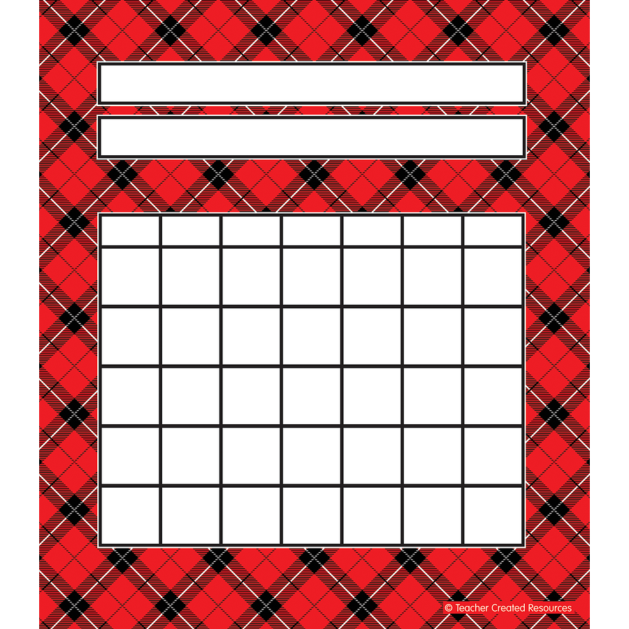 TCR 5696 RED PLAID INCENTIVE CHARTS