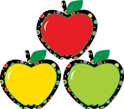 CTP 6238 POPPIN PATTERNS APPLES CUTOUTS