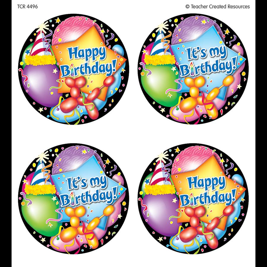 TCR 4496 32 WEAR 'EM BADGES HAPPY BIRTHDAY