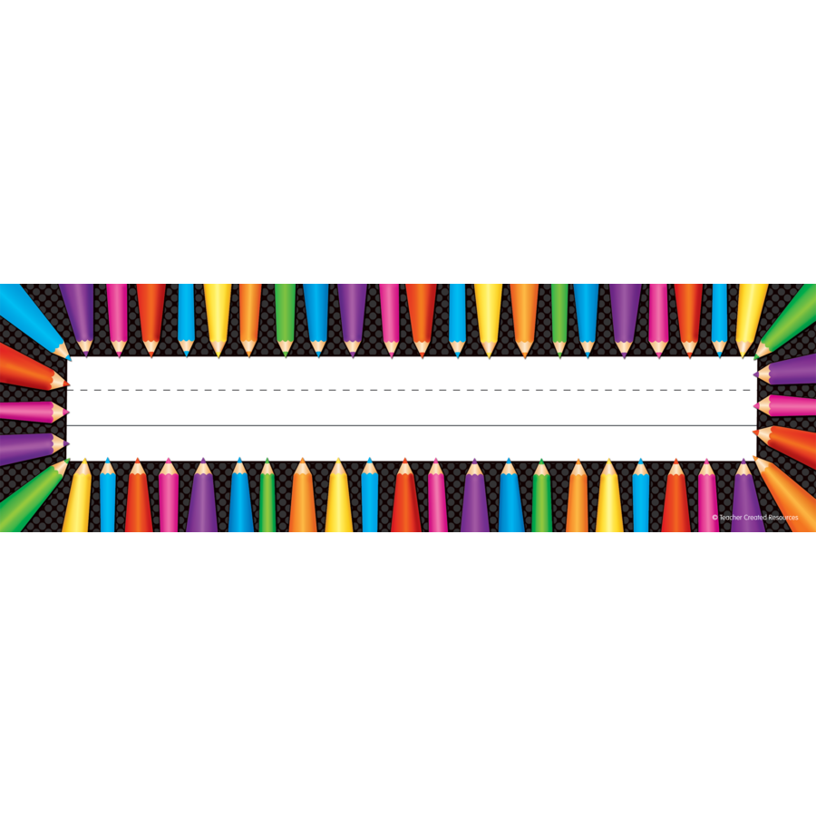 TCR 5512 COLORED PENCIL NAMEPLATE