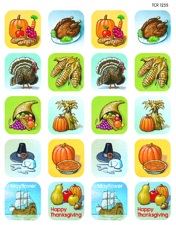 TCR 1255 THANKSGIVING STICKERS