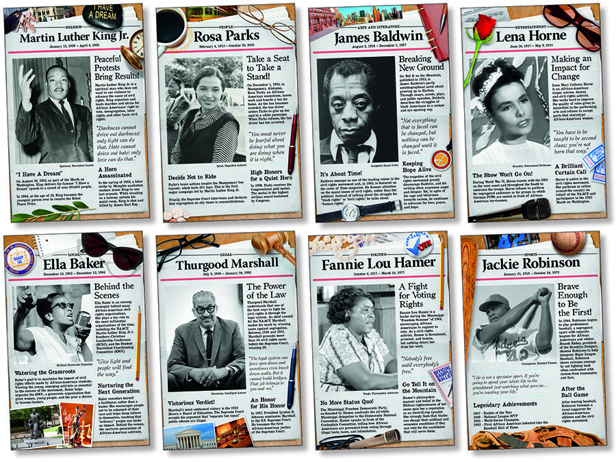 NS 3078 CIVIL RIGHTS PIONEERS POSTERS