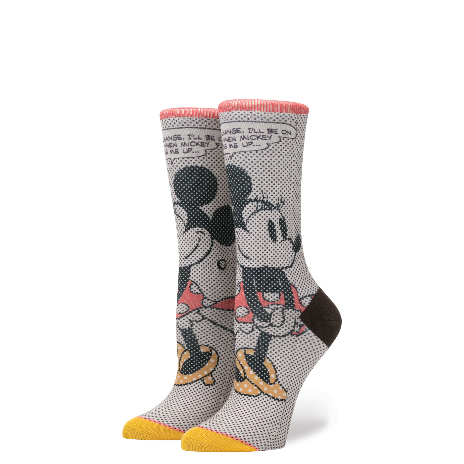 STANCE - DISNEY TICK TOCK MINNIE OFF WHITE