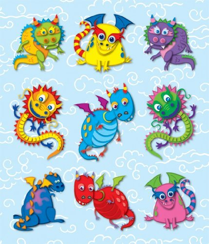 CD 168040 DRAGONS PRIZE PACK STICKERS