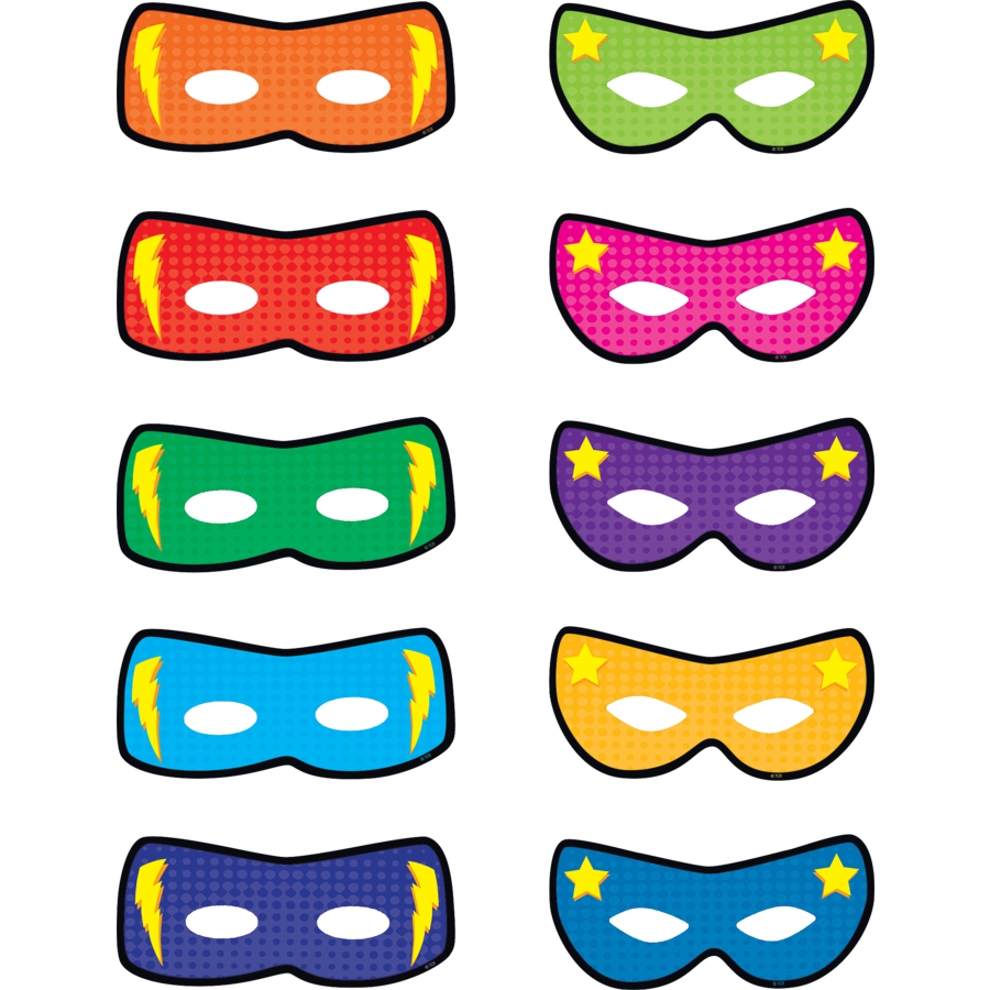TCR 5591 SUPERHERO MASKS CUTOUTS