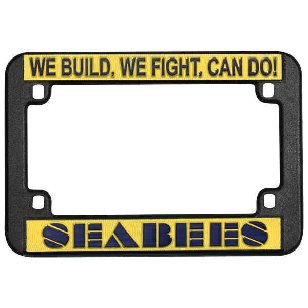 navy seabees plastic motorcycle license plate frame - Military License Plate Frames