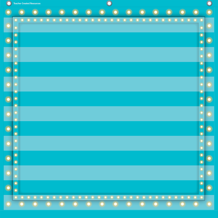 TCR 20780 7 POCKET CHART LT BLUE MARQUEE