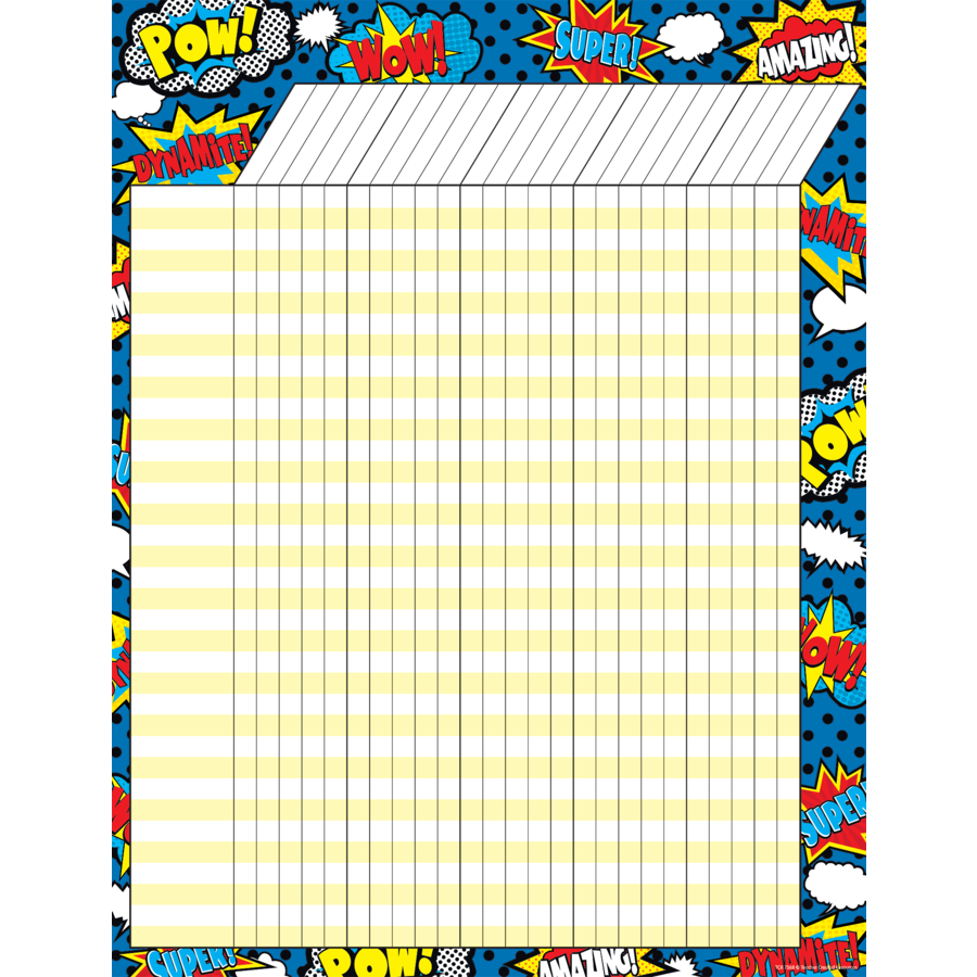 TCR 7568 SUPERHERO INCENTIVE CHART