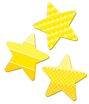 CTP 0825 PAINTED PALETTE STARS MINI CUTOUTS