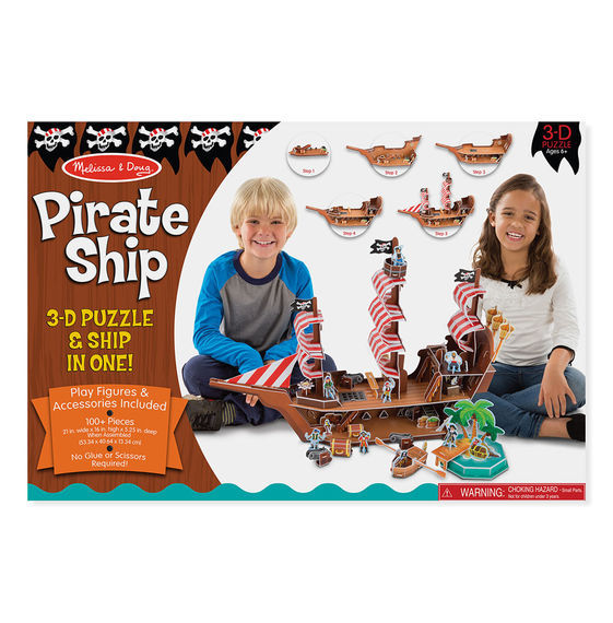 MD 9045 PIRATE SHIP 3D PUZZLE