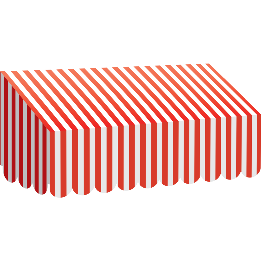 TCR 77165 RED AND WHITE STRIPES AWNING