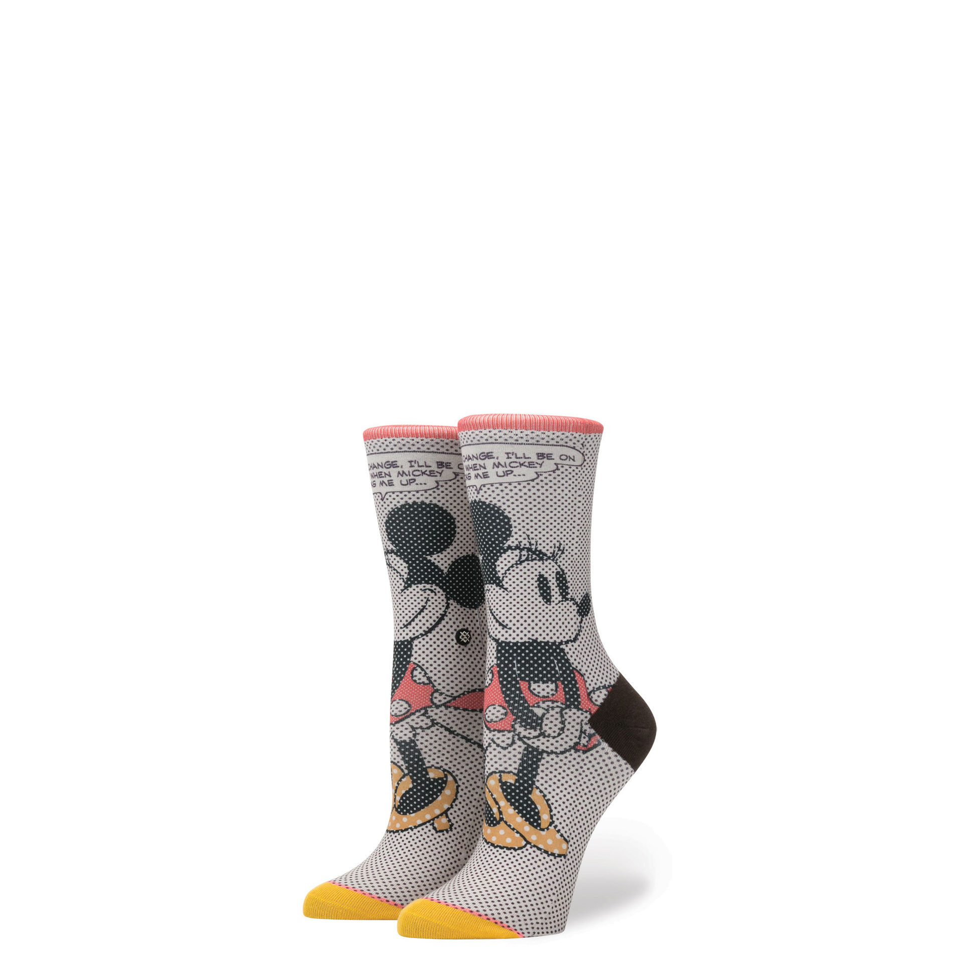 STANCE - GIRLS TICK TOCK MINNIE IN OFF WHITE