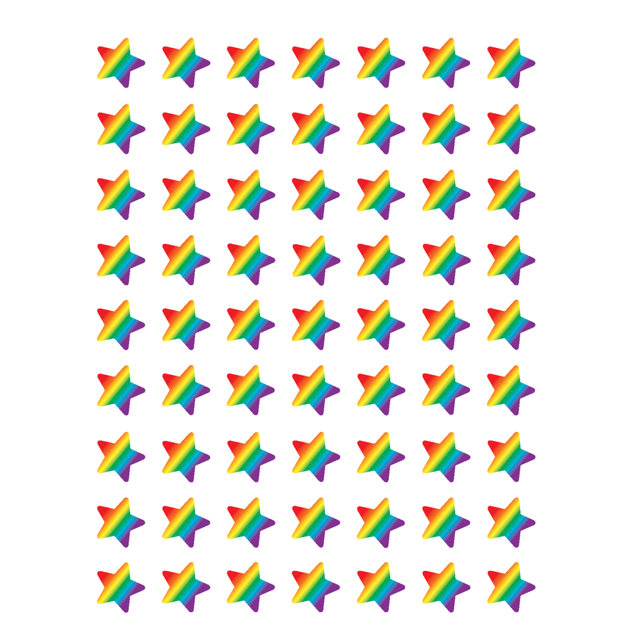 TCR 5798 RAINBOW STARS MINI STICKERS
