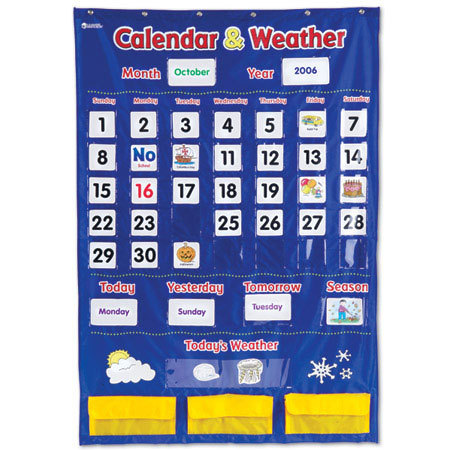 LER 2418 CALENDAR AND WEATHER POCKET CHART