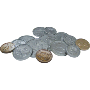 TCR 20639 ASSORTED COINS PLAY MONEY