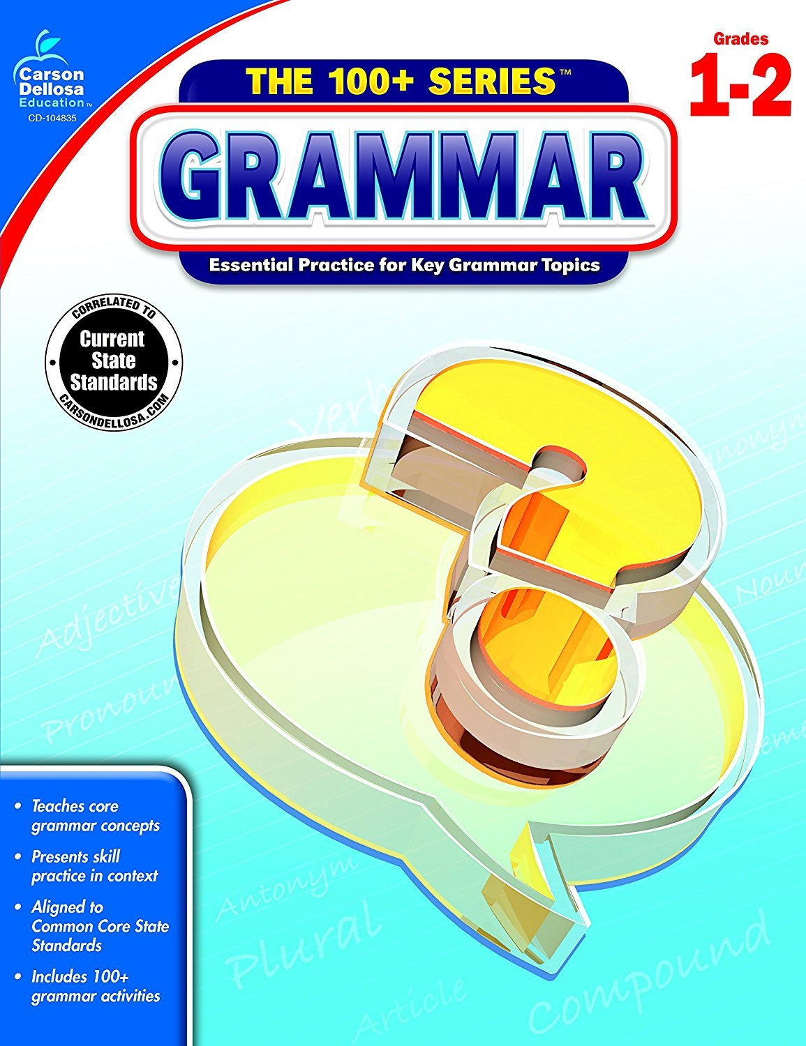 CD 104835 THE 100+ SERIES GRAMMAR G1-2