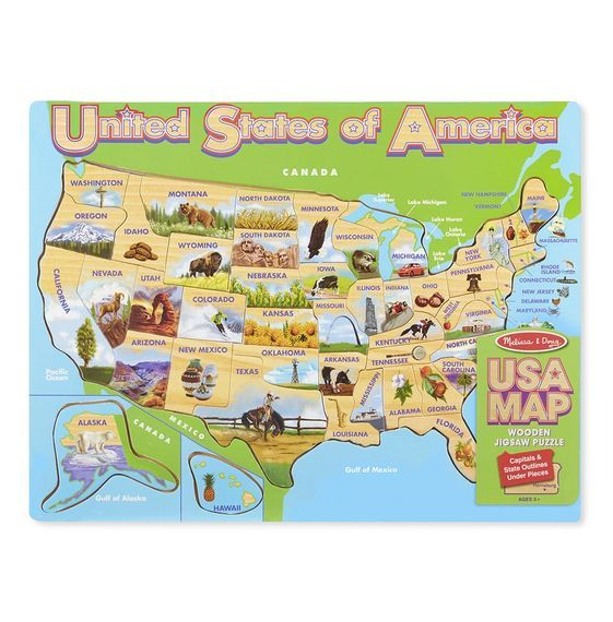 MD 9073 USA MAP JIGSAW PUZZLE
