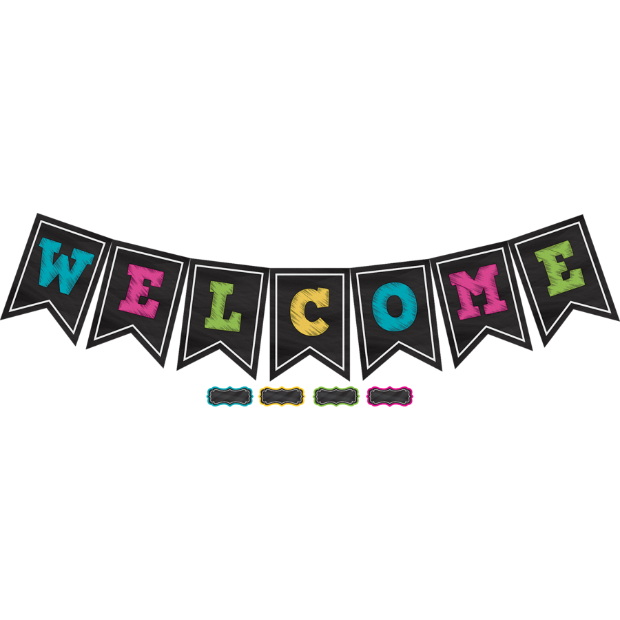 TCR 5614 CHALKBOARD BRIGHTS WELCOME