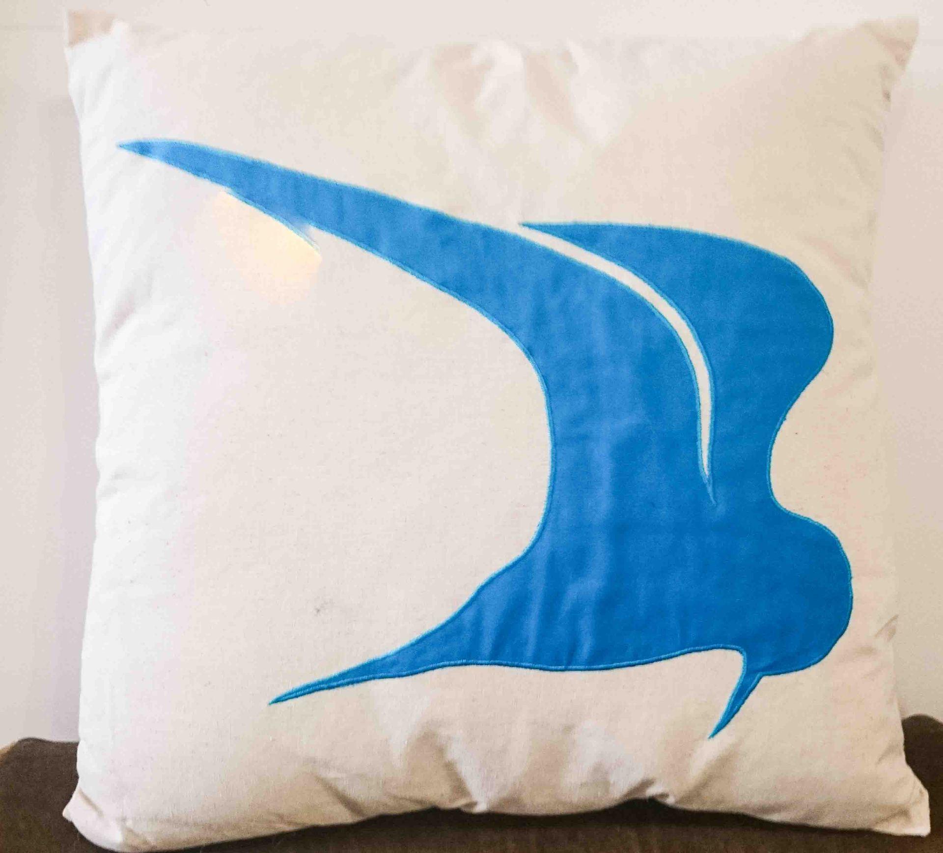 Cushion Flying Fairy Tern Blue