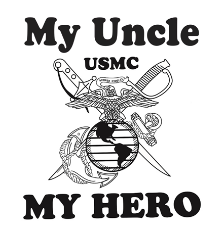 ea1c8d43 My Uncle My Hero Marine Corps Polo-Golf Shirt | Apparel | Military ...