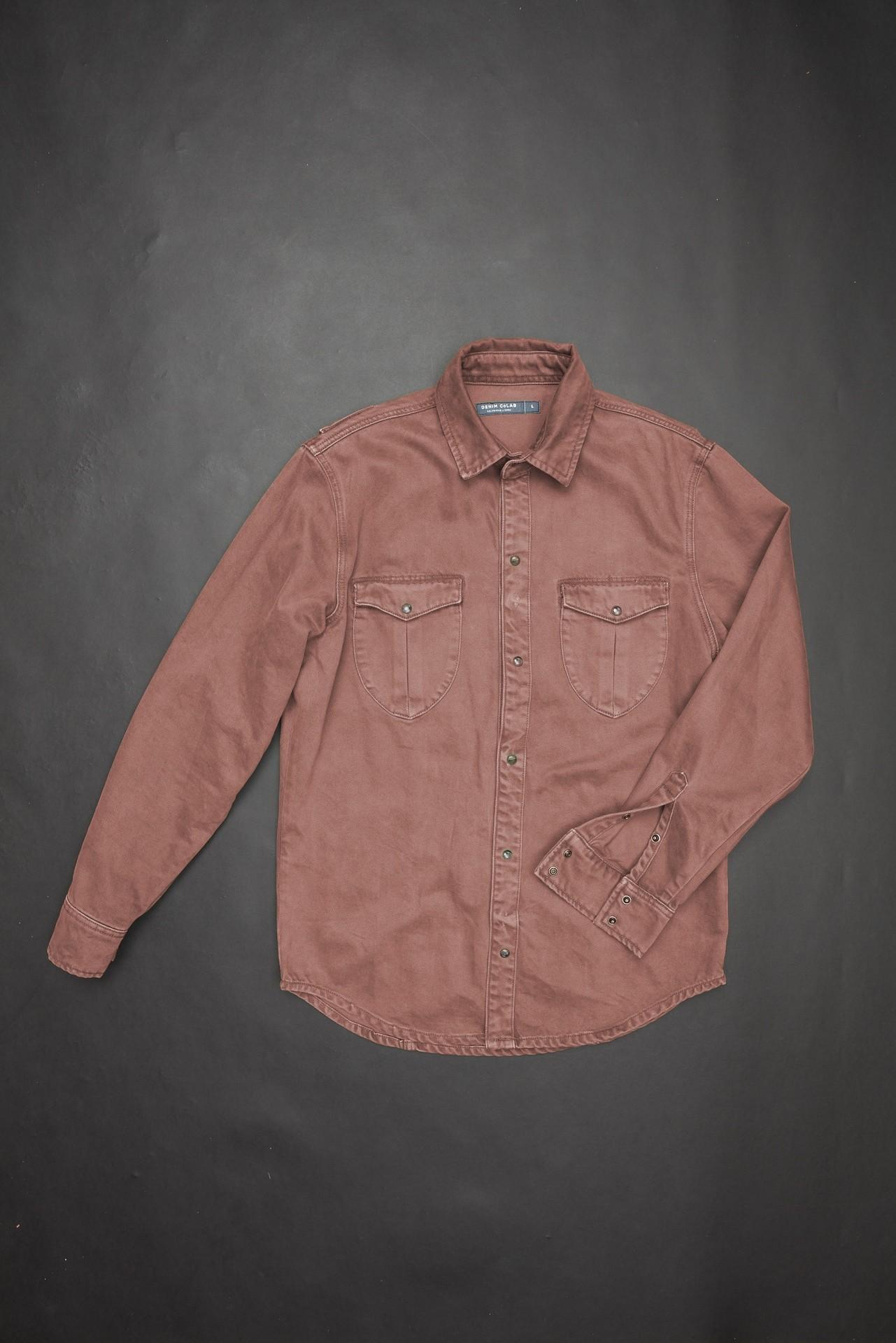 f1f493887c 2F14 Utility Shirt Desert Rust - SALE - - DENIM CoLAB