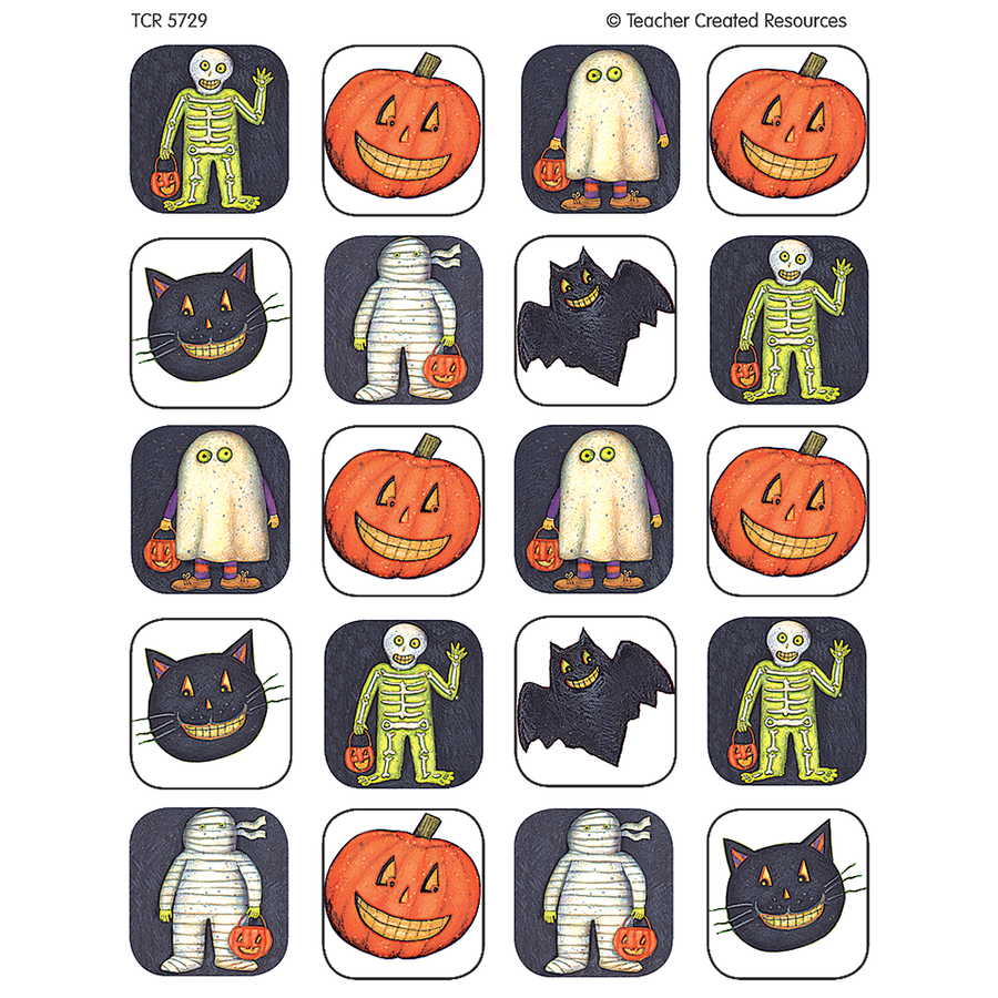 TCR 5729 HALLOWEEN STICKERS