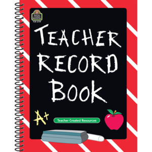 TCR 2119 TEACHER RECORD BOOK SMALL CHALK BOARD APPLE
