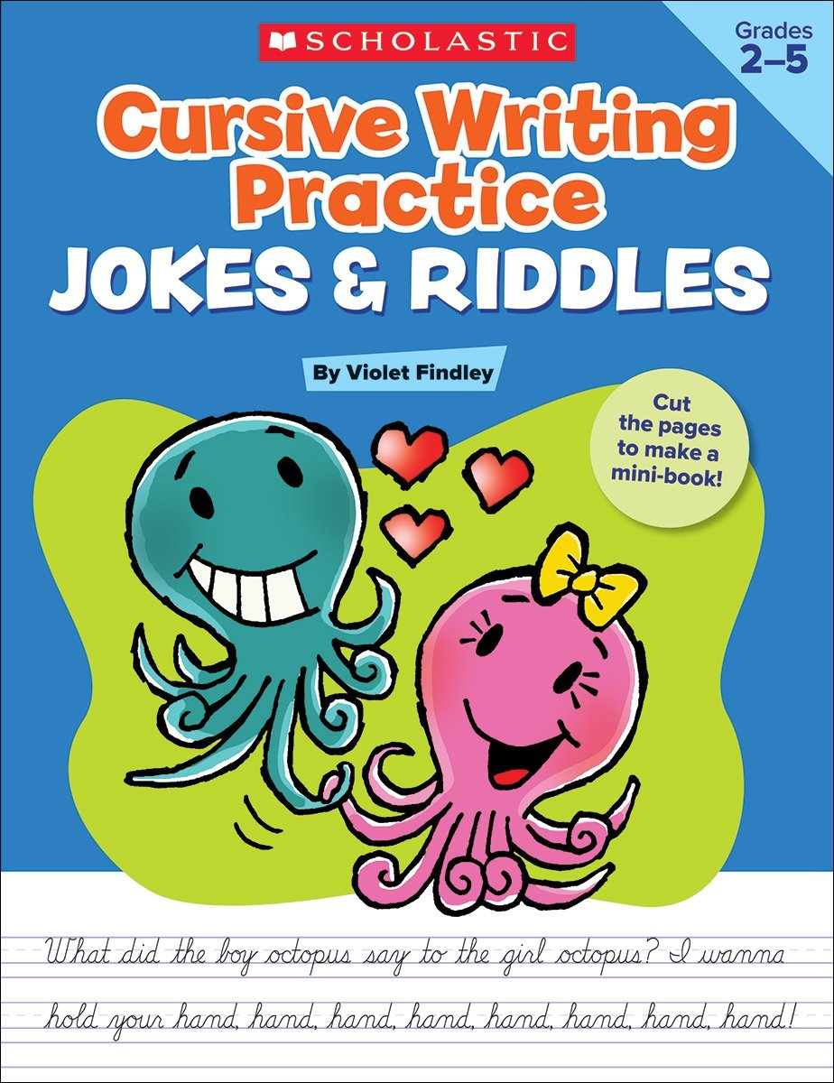 SC 522752 CURSIVE WRITING PRACTICE: JOKES AND RIDDLES