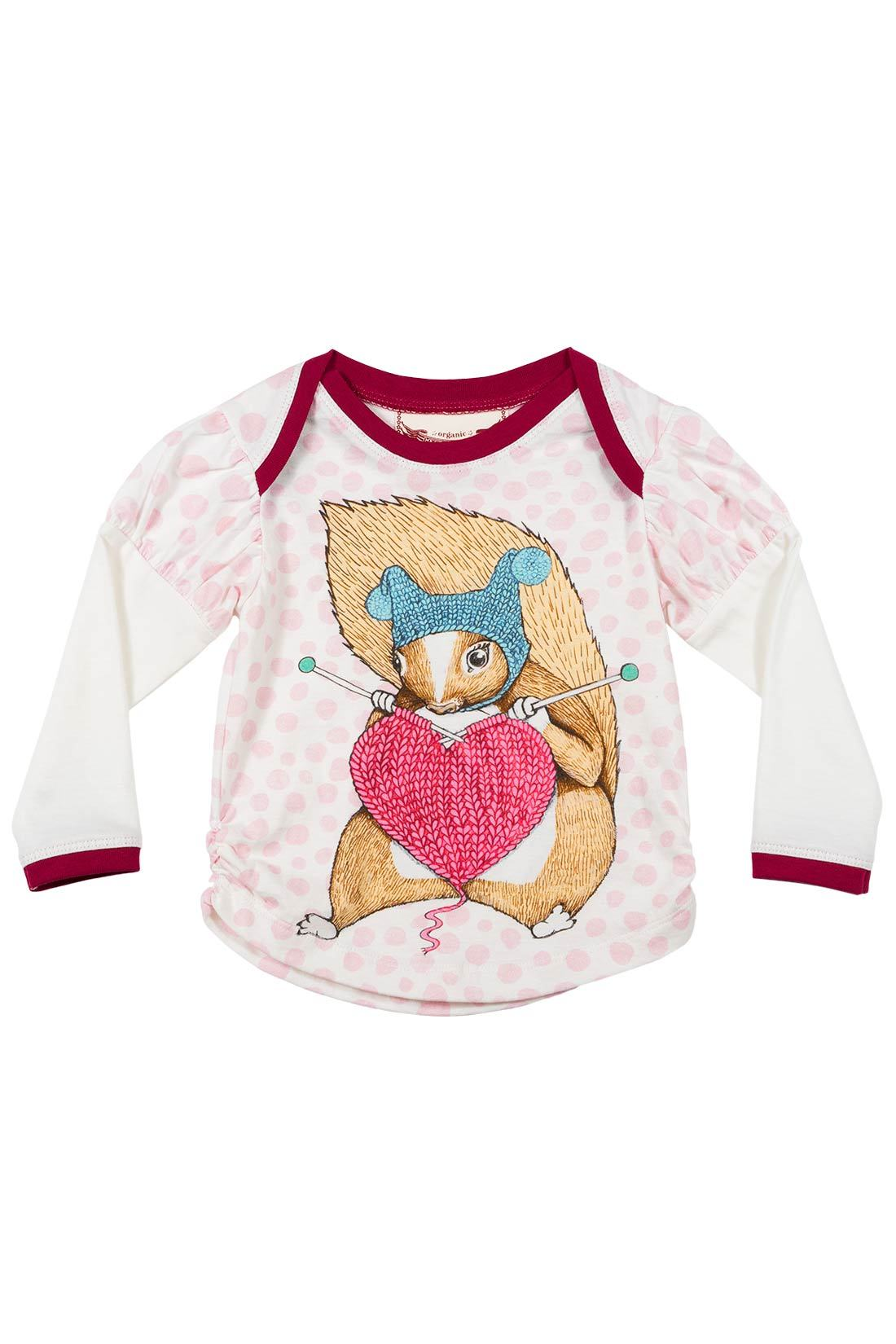 Little Wings Puff Slv Tee - Knitting Squirrel