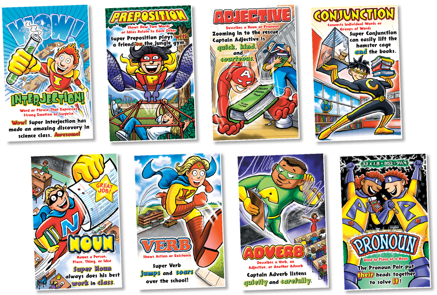 NS 3021 PARTS OF SPEECH SUPERHEROES BBS