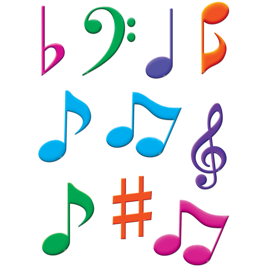 TCR 5417 MUSICAL NOTES CUTOUTS