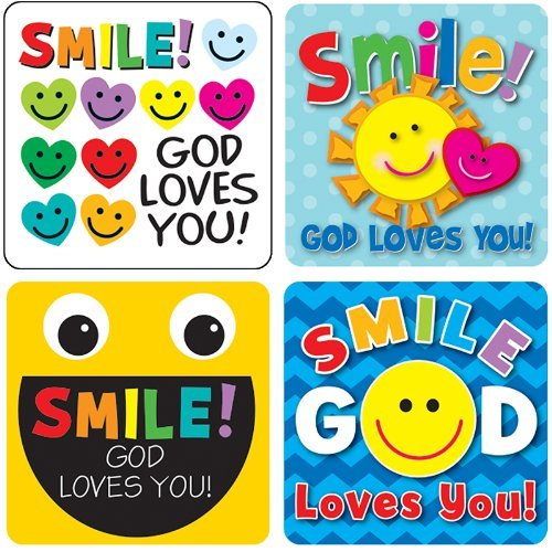 CD 168167 SMILE GOD LOVES YOU STICKERS