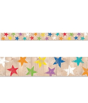 CTP 8380 UPCYCLE STYLE RUSTIC STARS BORDER