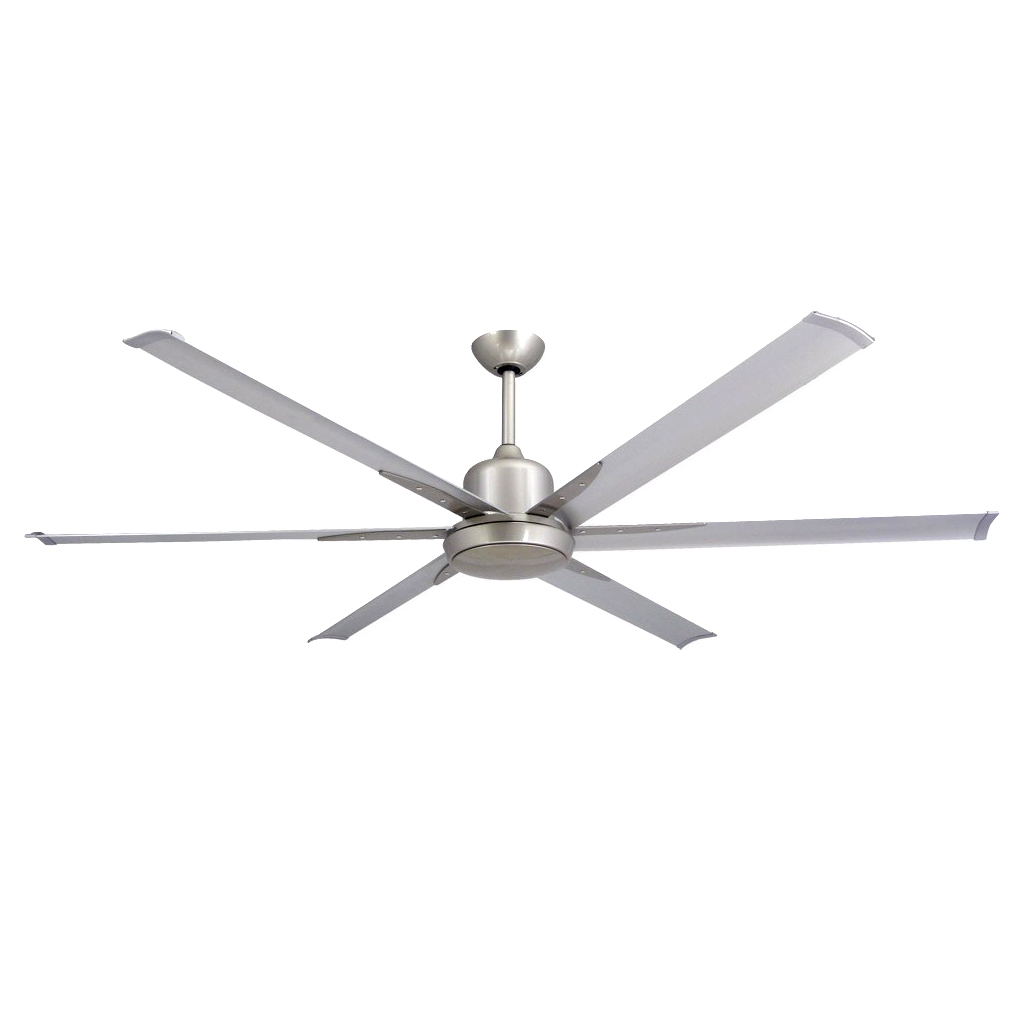 Fan TroposAir Titan 84 in. Indoor/Outdoor Brushed Nickel Ceiling Fan and Light