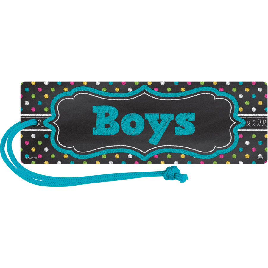 TCR 77278 CHALKBOARD BRIGHTS MAGNETIC BOYS PASS