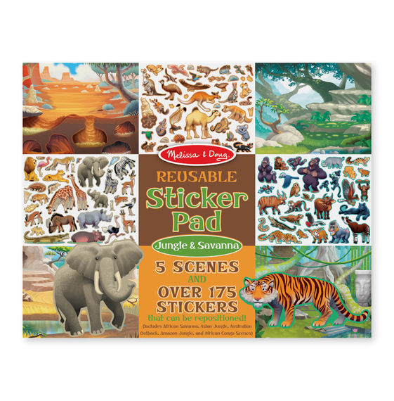 MD 30502 REUSABLE STICKERS JUNGLE