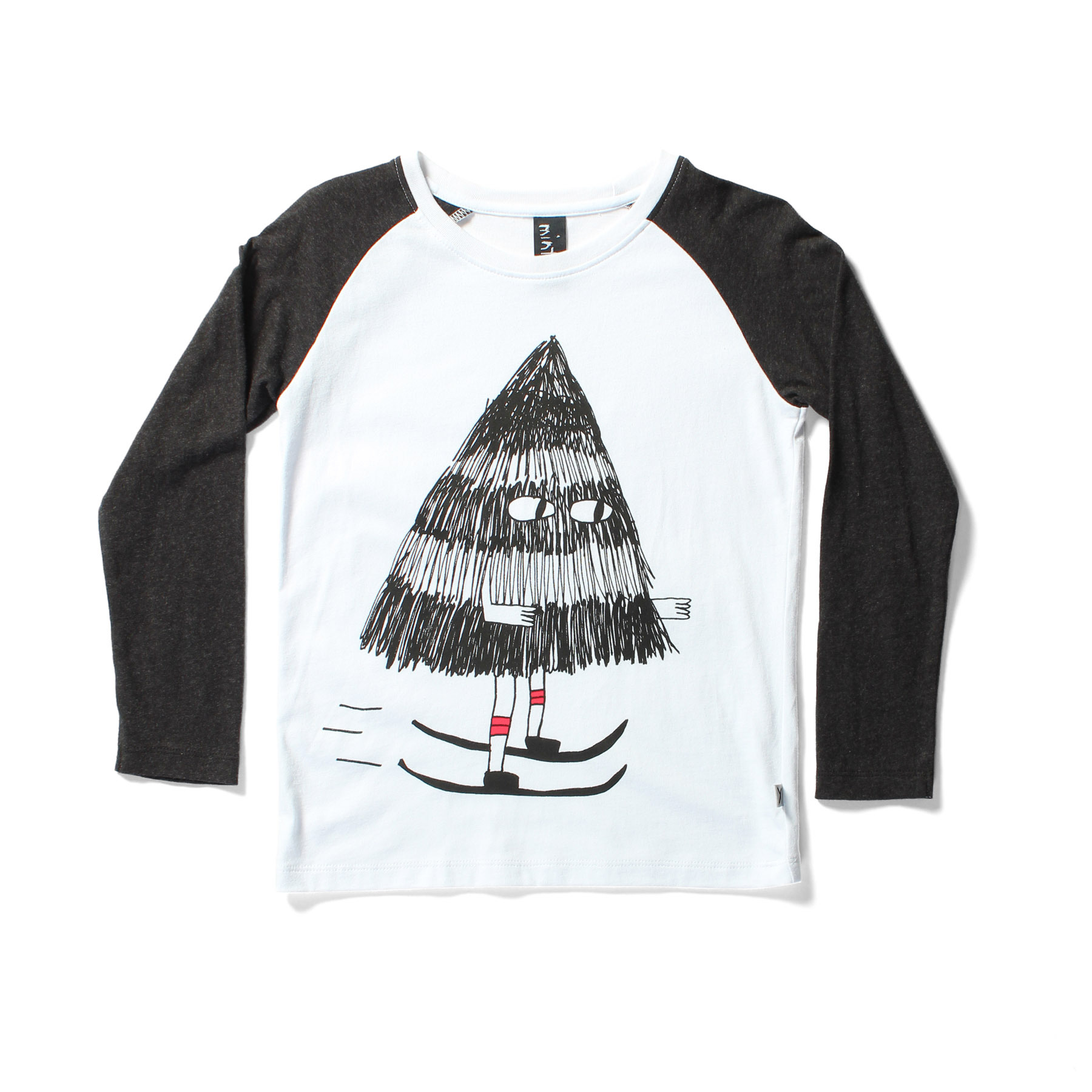 LS RAGLAN TEE - tree skiier