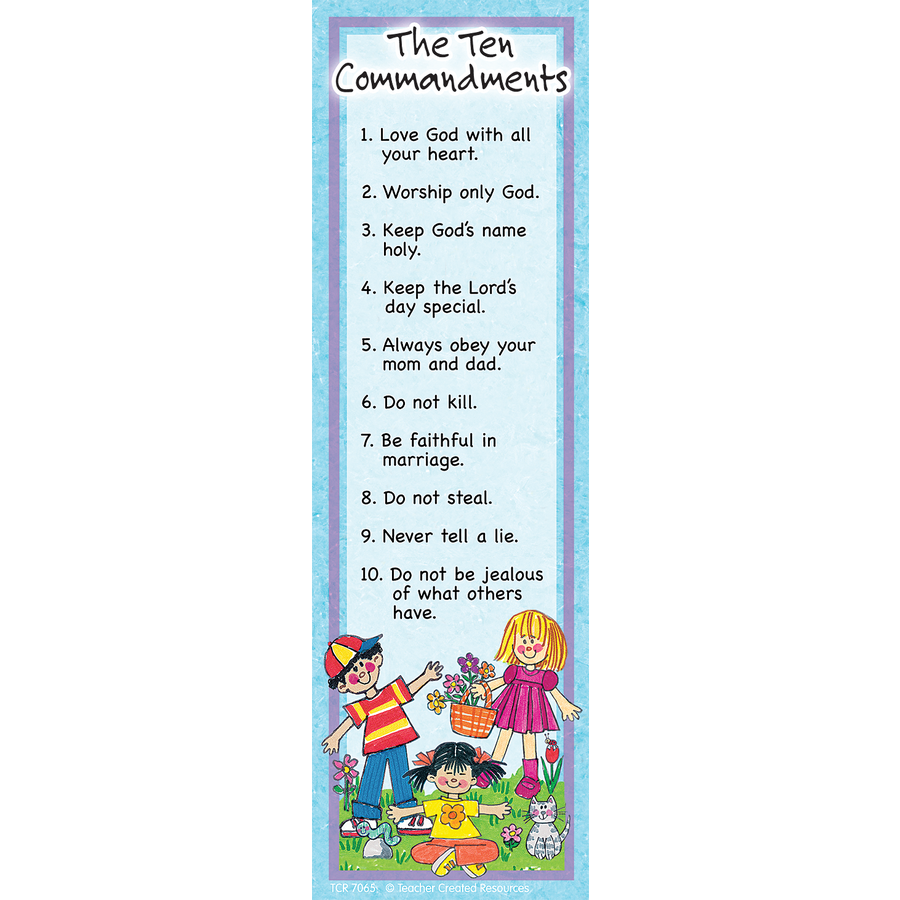 TCR 7065 TEN COMMANDMENTS BOOKMARKS