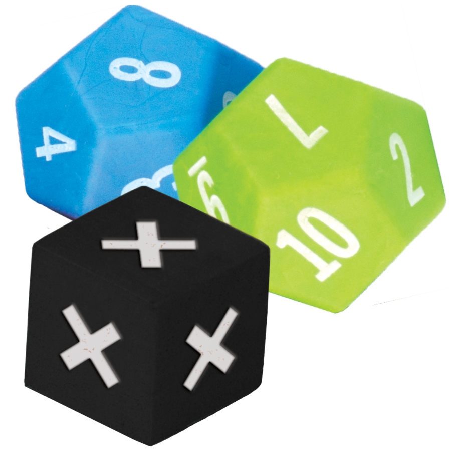TCR 20812 MULTIPLICATION GAME DICE