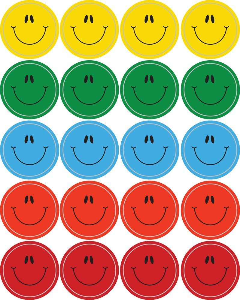 CD 5270 SMILEY FACES STICKERS