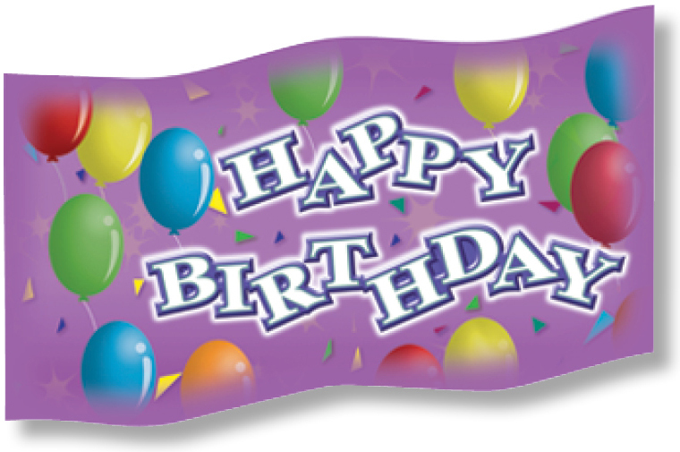 NS 2600 HAPPY BIRTHDAY PENCIL FLAGS