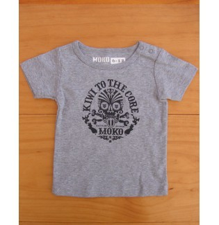 moko kiwi to the core babies tee gray marle