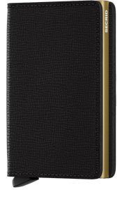 SECRID - SLIMWALLET IN CRISPLE BLACK GOLD